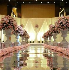 10m Per lot 1.2m Wide Shine Silver Mirror Carpet Aisle Runner For Romantic…