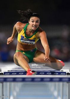 Michelle Jenneke of Australia competes in the 100 Metre Women's Hurdles during Nitro Athletics at Lakeside Stadium on February 2017 in Melbourne, Australia. Michelle Jenneke, Athletic Events, Gym Clothes Women, Beautiful Athletes, Love Fitness, Running Motivation, Track And Field, Athletic Women, Sports Illustrated