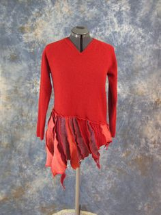 Recycled  Wool Sweater Tunic Lagenlook Katwise by GrayGray58, $ 88.00