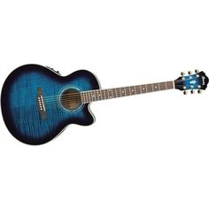 Buy Ibanez AEL20E Acoustic-Electric Guitar with Onboard Tuner   6... ❤ liked on Polyvore featuring music and guitar