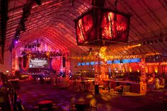 """For the 2012 DirecTV Celebrity Beach Bowl/Super Saturday Night pre-Super Bowl party, <a href=""""http://www.cl22productions.com"""" target=""""_blank"""">CL22 Productions</a> creates a """"Victorian retro"""" nightclub complete with towering """"clock tower."""" Photo by <a href=""""http://2mestudios.com/"""" target=""""_blank"""">2me Studios.</a>"""
