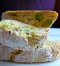 Double-baked biscuits (biscotti) with almond and pistachio nuts