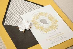 Oh So Beautiful Paper: Casey's Silhouette Letterpress Baby Announcements