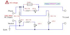 Phase-Neutral-Earth Fault Indicator Circuit