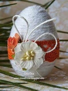 """Милые сердцу штучки: """"Пасхальное яйцо, веревка и фантазия"""" Egg Crafts, Yarn Crafts, Easter Crafts, Diy And Crafts, Happy Easter, Easter Bunny, Easter Eggs, Spring Crafts, Holiday Crafts"""