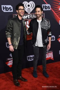 Darren & Chuck Criss aka Computer Games at the iHeartRadio Music Awards on March 5, 2017.