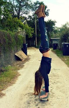 maybe need to be working on my hand stand stylings in the backyard <3