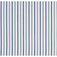 Blue and Green Striped Cotton Shirting