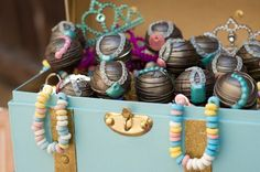 Mermaid themed birthday party with SO MANY REALLY CUTE IDEAS via Kara's Party Ideas | Cake, decorating tips, cupcakes, favors, printables, and MORE! #mermaidparty #undertheseaparty #oceanparty #girlpartyideas #partydecor #partystyling #eventplanning (24)
