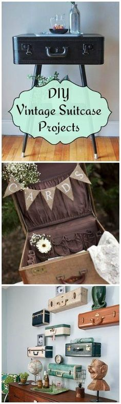 DIY Vintage Suitcase Projects • Ideas, Tutorials & Inspiration! by deena