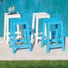 Need more outdoor seating? These bar stools will make a great addition.
