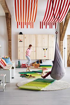 14 Styling Tricks To Steal From The IKEA 2015 Catalog #refinery29 http://www.refinery29.com/ikea-catalogue-styling-tips#slide6 Have high ceilings? Canopies can bring the eye up.