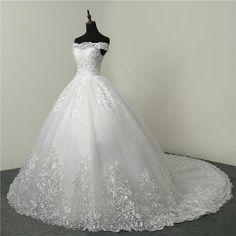 Wedding Gown Off Shoulder, Wedding Dress Train, Sweetheart Wedding Dress, Wedding Dress Sleeves, Elegant Wedding Dress, Tulle Wedding, Wedding Bouquet, Wedding Embroidery, Applique Wedding Dress