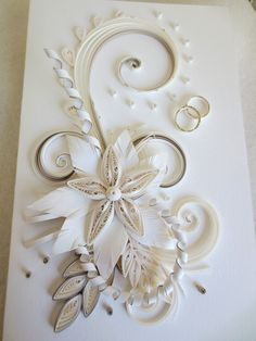 Quilling Wedding Card With Calligraphy