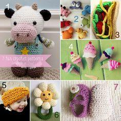 7 fun crochet patterns by lauriebeth85, via Flickr