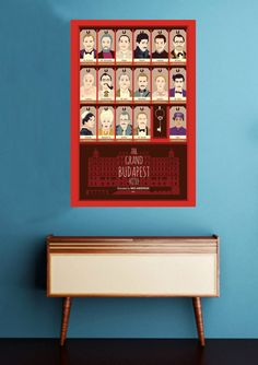 The Grand Budapest Hotel, Wes Anderson, Minimal Movie Poster Film Poster Design, Movie Poster Art, Graphic Design Posters, Print Poster, Wes Anderson Style, Wes Anderson Movies, Grand Budapest Hotel Poster, Hotel Budapest, Lobby Boy