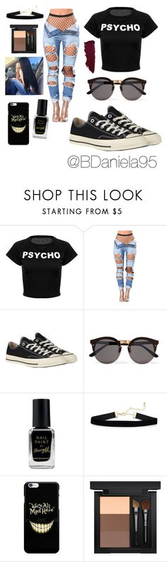 """""""Untitled #264"""" by daniela95140 on Polyvore featuring Converse, Illesteva, Barry M and MAC Cosmetics"""
