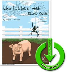 Charlotte's Web - E-Guide, Christian, literature, reading comprehension, writing, critical analysis, biblical, vocabulary, faith based, study guide, language, english, unit study, classics, classical, living books