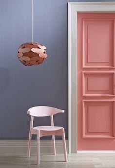 Valspar Paint® Door is Powder Peach and Wall is Cinder Fox