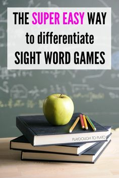 The super easy way to differentiate sight word games. It's. so. easy.