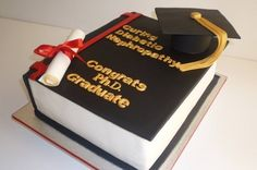 Two beautifully finished graduation cakes by Alyssa Hall of Cuteology Cakes (below left) and by Sugar Rush Cakes, Montreal (below right) including a sugar ...