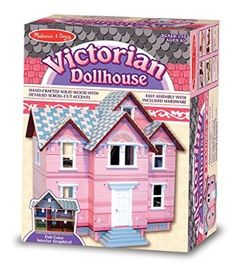 Melissa U0026 Doug Classic Heirloom Victorian Doll House