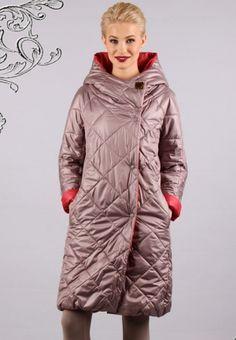 Женское стеганое пальто Ирида цвета какао anna verdi