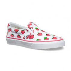 Vans Vans Zapatos Late Night Classic Slip-On Junior (Strawberries) True White - Vans España Tienda Oficial Online