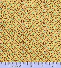 Aunt Grace First Place Cotton Reproduction Cotton  Fabric Cherries Yellow BFab