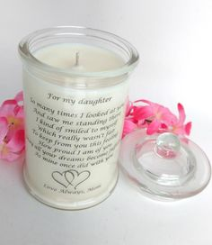 Daughter Mother Candle Poem Candle Daughter Mother Gift