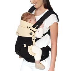 4f0d99d8b7e Ergobaby 360 All Carry Positions Ergonomic Baby Carrier with Bundle of Joy  Infant Insert - Black Tan