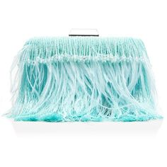 Erminia Clutch (£215) ❤ liked on Polyvore featuring bags, handbags, clutches, handbag purse, hand bags, blue fringe purse, handbags clutches and fringe handbags