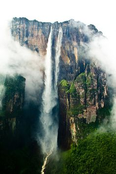 El salto Ángel, the highest waterfall in the world. Canaima National Park. Venezuela by Inti