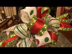 In this Funky Bow Tutorial I show how I take 3 different ribbons and make a beautiful custom funky bow for my Christmas decor. Christmas Tree Bows, Christmas Crafts, Homemade Christmas, Making Bows For Wreaths, Funky Bow, Homemade Bows, Tree Topper Bow, Navidad Diy, Bow Tutorial