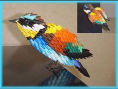 pajarito tutorial origami 3d - YouTube