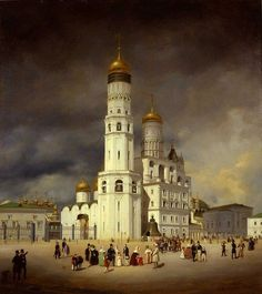 Ivanovskaya Square (Kremlin) - Eduard Gaertner (1839)
