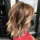 Texture Bob Hair Style with Shoulder Length Hairs