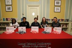Congratulations to the following students who will be going on to play at the collegiate level and participated in our Signing Ceremony today: Mike Berkowitz - Franklin Marshall (Wrestling) Devonte Green - Indiana University (Mens Basketball) Kennedy Kerr - Brown University (Soccer/Women's Track) Sarah Mortensen - University of Miami (Women's Basketball) Darian Rivas - Erskine College (Baseball)