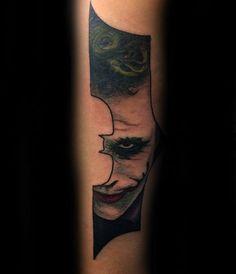 Joker Batman Symbol Mens Forearm Tattoos