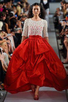 Oscar de la Renta spring 2012.  I love the billowy skirt, it feels like fairy tale wear.