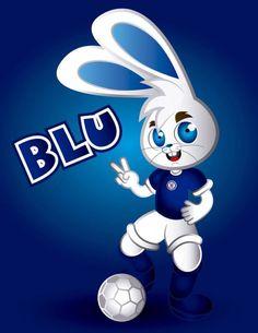 Blu mascota oficial de Cruz Azul