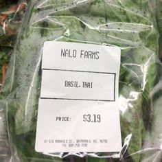 Fresh produce from Nalo Farms