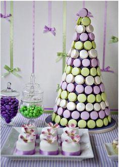 Bobette and Belle's ~ Macaron Tower is a perfect addition to any sweet table Wedding Cake Prices, Cool Wedding Cakes, Wedding Cake Toppers, Macaron Cake, Cupcake Cakes, Cupcakes, Macaron Cookies, Mini Cakes, Buffet Dessert