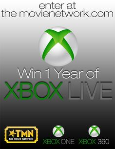 Win a Free Year of XBox Live Membership from TheMovieNetwork.com and MovieRoomReviews.com. #Giveaway #PinItToWinIt