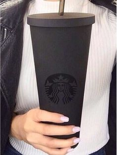 Matte Black StarBucks Cold Cup...NEED!