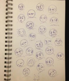 Simple cartoon expression drawing reference