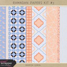 Ramadan Papers Kit #3 | digital scrapbooking | patterned papers