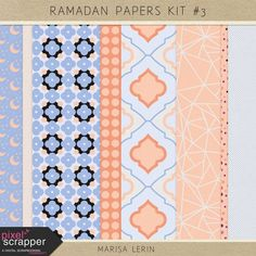 Ramadan Papers Kit #3 | digital scrapbooking | patterned papers