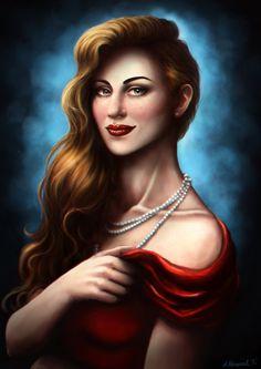 Lady in Red by sekiq on DeviantArt