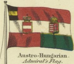 Austro-Hungarian admiral's flag Hungarian Flag, Austro Hungarian, Military Art, Military History, World War I, World History, Austrian Empire, Catholic, Old Things